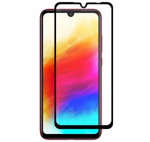 Folie sticla securizata Full Glue pentru Xiaomi Redmi 7, Negru0