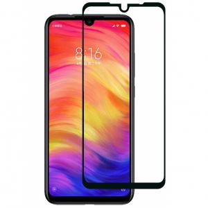 Folie sticla securizata Full Glue pentru Xiaomi Redmi Note 7, Negru0