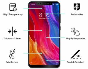 Folie sticla securizata Full Glue Xiaomi Mi 8, Negru [1]