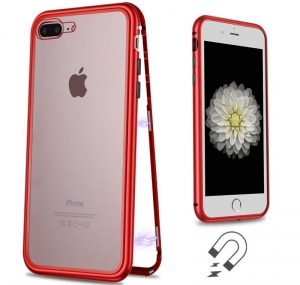 Husa 360 Magnetic Case pentru iPhone 7 Plus, Red1
