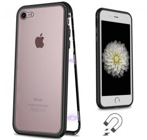 Husa 360 Magnetic Case pentru iPhone 8, Negru1