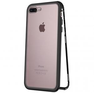 Husa 360 Magnetic Case pentru iPhone 8 Plus, Negru0
