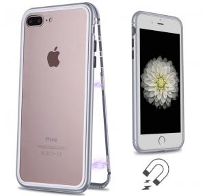 Husa 360 Magnetic Case pentru iPhone 8 Plus, Silver1