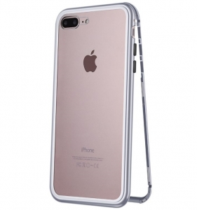 Husa 360 Magnetic Case pentru iPhone 8 Plus, Silver0