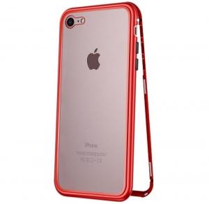 Husa 360 Magnetic Case pentru iPhone 8, Red0