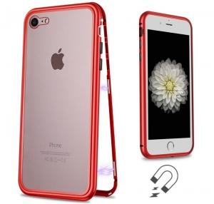 Husa 360 Magnetic Case pentru iPhone 8, Red1