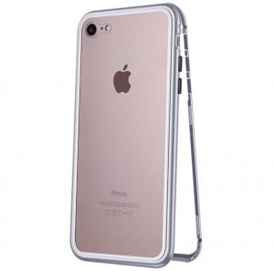 Husa 360 Magnetic Case pentru iPhone 8, Silver0