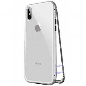 Husa 360 Magnetic Case pentru iPhone X, Silver0