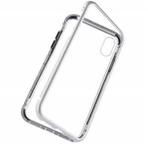 Husa 360 Magnetic Case pentru iPhone X, Silver3