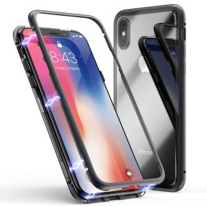 Husa 360 Magnetic Case pentru iPhone XS, Negru0
