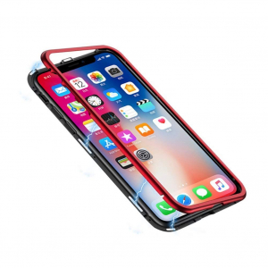 Husa 360 Magnetic Case pentru iPhone XS, Red2