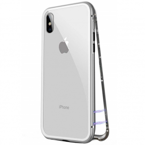 Husa 360 Magnetic Case pentru iPhone XS, Silver1
