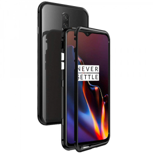 Husa 360 Magnetic Case pentru OnePlus 6T, Negru [0]