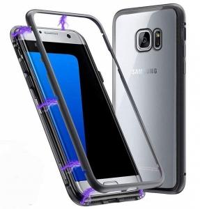 Husa 360 Magnetic Case pentru Samsung Galaxy S7 Edge, Negru1