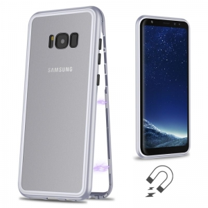 Husa 360 Magnetic Case pentru Samsung Galaxy S8 Plus, Silver1