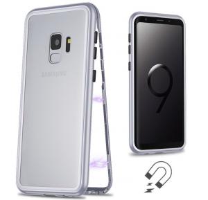 Husa 360 Magnetic Case pentru Samsung Galaxy S9 Plus, Silver1