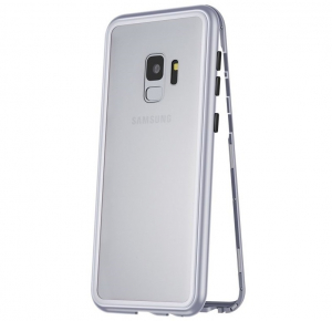 Husa 360 Magnetic Case pentru Samsung Galaxy S9 Plus, Silver0