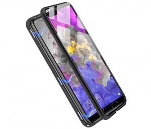 Husa 360 Magnetic Glass (sticla fata + spate) pentru Huawei P20 Pro, Negru2
