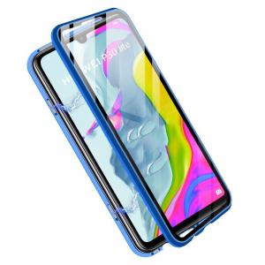 Husa 360 Magnetic Glass (sticla fata + spate) pentru Huawei P30 Lite, Albastru1