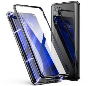 Husa 360 Magnetic Glass (sticla fata + spate) pentru Huawei P30 Pro, Negru0