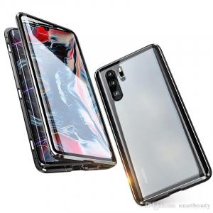 Husa 360 Magnetic Glass (sticla fata + spate) pentru Huawei P30 Pro, Negru2