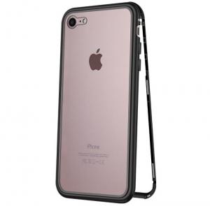 Husa 360 Magnetic Glass (sticla fata + spate) pentru iPhone 6 / 6S, Negru0