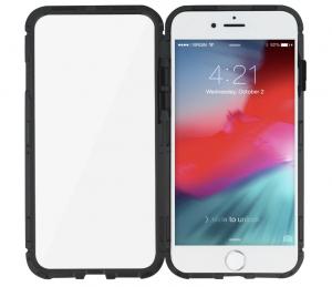 Husa 360 Magnetic Glass (sticla fata + spate) pentru iPhone 6 / 6S, Negru3