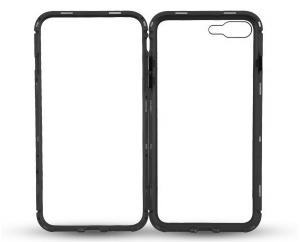 Husa 360 Magnetic Glass (sticla fata + spate) pentru iPhone 8 Plus, Negru2