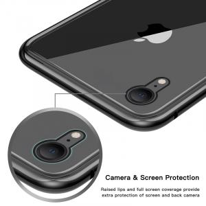 Husa 360 Magnetic Glass (sticla fata + spate) pentru iPhone XR, Negru [2]