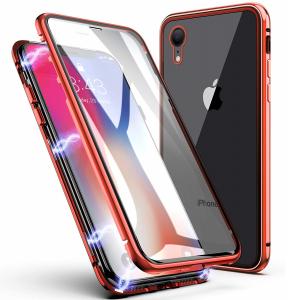 Husa 360 Magnetic Glass (sticla fata + spate) pentru iPhone XR, Red0