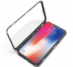 Husa 360 Magnetic Glass (sticla fata + spate) pentru iPhone XS Max, Negru1