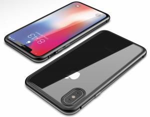 Husa 360 Magnetic Glass (sticla fata + spate) pentru iPhone XS Max, Negru2