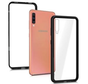 Husa 360 Magnetic Glass (sticla fata + spate) pentru Samsung Galaxy A70, Negru1