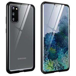 Husa Samsung Galaxy S20 Magnetic Glass 360 (sticla fata + spate), Negru0
