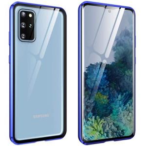 Husa Samsung Galaxy S20 Plus Magnetic Glass 360 (sticla fata + spate), Albastru [0]