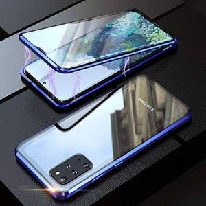 Husa Samsung Galaxy S20 Plus Magnetic Glass 360 (sticla fata + spate), Albastru [2]