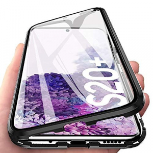 Husa Samsung Galaxy S20 Plus Magnetic Glass 360 (sticla fata + spate), Negru [2]