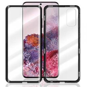 Husa Samsung Galaxy S20 Plus Magnetic Glass 360 (sticla fata + spate), Negru1