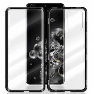 Husa Samsung Galaxy S20 Ultra Magnetic Glass 360 (sticla fata + spate), Negru1