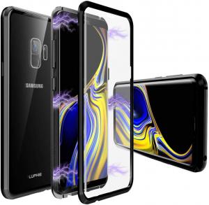 Husa 360 Magnetic Glass (sticla fata + spate) pentru Samsung Galaxy S9, Negru0