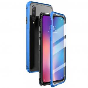 Husa 360 Magnetic Glass (sticla fata + spate) pentru Xiaomi Mi 9, Albastru0