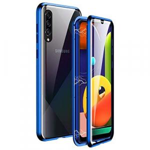 Husa 360 Magnetic Glass (sticla fata + spate) Samsung Galaxy A50, Albastru [0]