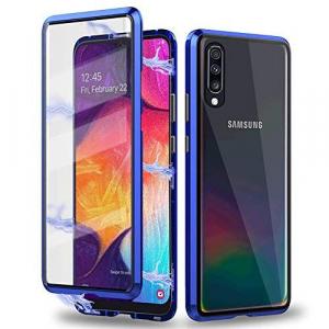 Husa 360 Magnetic Glass (sticla fata + spate) Samsung Galaxy A50, Albastru [1]