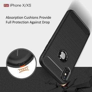 Husa Air Carbon iPhone XS, Negru4
