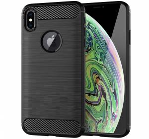 Husa Air Carbon pentru iPhone XS Max, Negru0