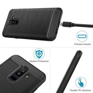Husa Air Carbon pentru Samsung Galaxy A6 Plus (2018), Negru2