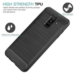 Husa Air Carbon pentru Samsung Galaxy A6 Plus (2018), Negru1