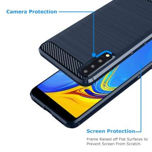 Husa Air Carbon pentru Samsung Galaxy A7 (2018), Dark Blue2