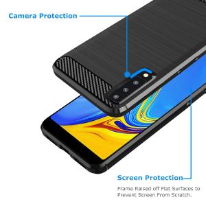 Husa Air Carbon pentru Samsung Galaxy A7 (2018), Negru2