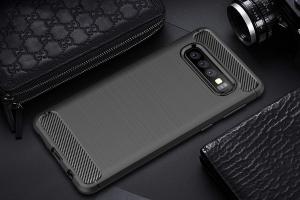 Husa Air Carbon pentru Samsung Galaxy S10e, Negru [2]
